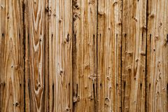 Brown wooden wall background. Brown wooden wall detail background Royalty Free Stock Image