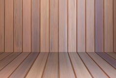 Brown wooden wall interior background Stock Photography