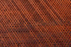 Free Brown Wooden Wall Lattice Background Texture.  Wooden Fence Cross Pattern. Crossing A Tree With Nails Stock Images - 169145234