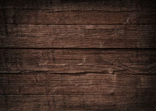 Brown wooden wall, planks, table, floor surface. Dark wood texture. Stock Image