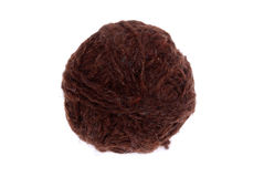 Brown Wool Ball Royalty Free Stock Images