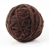 Brown wool. Image of brown wool ball isolated close up royalty free stock photo