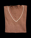 Brown wool jumper cloth Royalty Free Stock Images