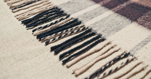 Brown woolen checkered scarf Royalty Free Stock Images