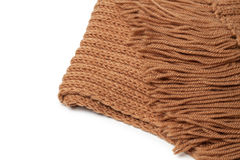 Brown woolen scarf Stock Images
