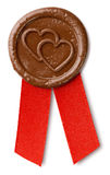 Brown wosku foka z sercami fotografia stock