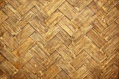 Brown woven bamboo close up texture Royalty Free Stock Photos
