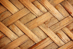 Brown woven bamboo close up texture. For background Royalty Free Stock Photography