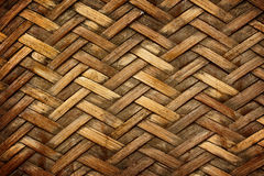 Brown woven bamboo close up texture. For background Stock Photography