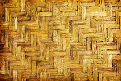 Brown woven bamboo close up texture. For background Royalty Free Stock Photos