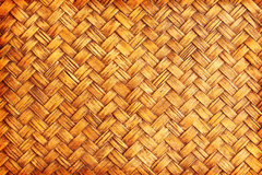 Brown woven bamboo close up texture Royalty Free Stock Images