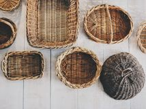 Brown Woven Basket Royalty Free Stock Images