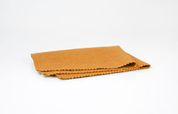 Brown woven cotton placemat Stock Image
