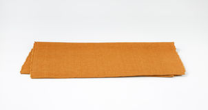Brown woven cotton placemat Stock Images