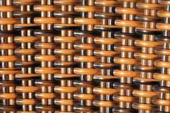 Brown Woven Rattan Background Royalty Free Stock Photography