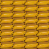 Brown woven wicker for use as background Royalty Free Stock Photography