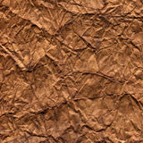Brown wrinkled craft paper Stock Image
