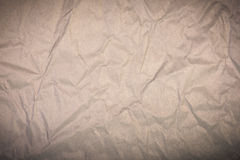 Brown wrinkled paper background Royalty Free Stock Photography
