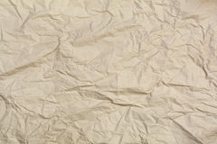 Brown wrinkled paper textured Stock Photo