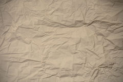 Brown wrinkled paper textured Royalty Free Stock Image