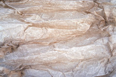 Brown wrinkled parchment paper Royalty Free Stock Photography
