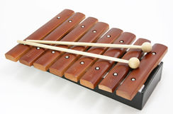 Brown xylophone Stock Photography