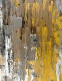 Brown y amarillo Art Painting abstracto Imagen de archivo