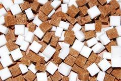 Brown y azúcar blanco Imagen de archivo