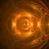 Brown y el fractal abstracto oscuro wallpaper con diferente y muchas formas Foto de archivo libre de regalías