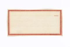 Brown y la crema enmarcan alrededor de la hoja en blanco Imágenes de archivo libres de regalías