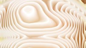 Brown y las líneas curvadas blancas ondulan el fondo de la textura ilustración del vector