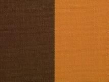 Brown y macro anaranjada de la textura de la tela Imagen de archivo