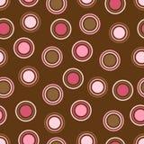 Brown y puntos de polca rosados Foto de archivo libre de regalías