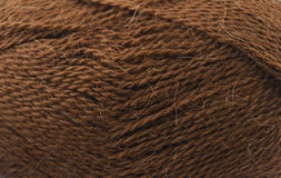Brown yarn Royalty Free Stock Images