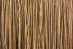 Brown yarn rope texture Royalty Free Stock Images