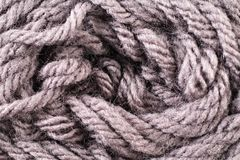 Brown Yarn Texture Close Up Royalty Free Stock Photo