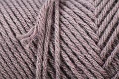Brown Yarn Texture Close Up Stock Photo