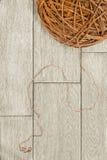 Brown yarn Stock Photo