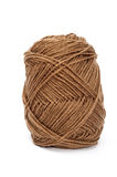 Brown yarn wool for knitting Royalty Free Stock Images