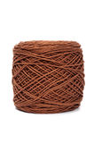 Brown yarn wool for knitting Royalty Free Stock Photography