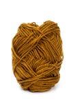 Brown yarn wool for knitting Royalty Free Stock Photos