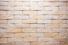 Brown yellow brick background Royalty Free Stock Photo