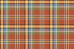 Brown yellow check plaid pixeled seamless texture. Vector illustration vector illustration