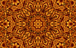 Brown yellow kaleidoscope. Brown yeloow squares relax kaleidoscope Royalty Free Stock Photo