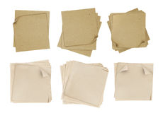 Brown and yellow note paper Stock Image