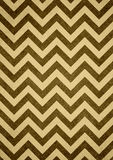 Brown yellow retro chevron zigzag pattern background Stock Photo