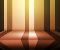 Yellow Retro Stage Background Royalty Free Stock Image