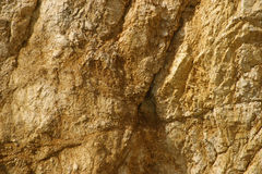 Brown-yellow rock. In croatia Royalty Free Stock Photo