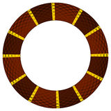 Brown and yellow snake ring. Round frame of reptile skin border based on color pattern of a brown and yellow king snake Stock Photo