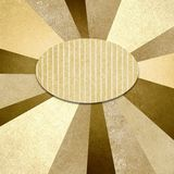 Brown yellow sunburst background radial design. Abstract brown yellow design of textured starburst or sunburst pattern radial stripes of vintage grunge texture royalty free stock photography